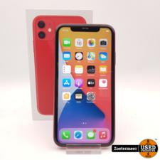 Apple Apple iPhone 11 64GB Red    Accu conditie 87%