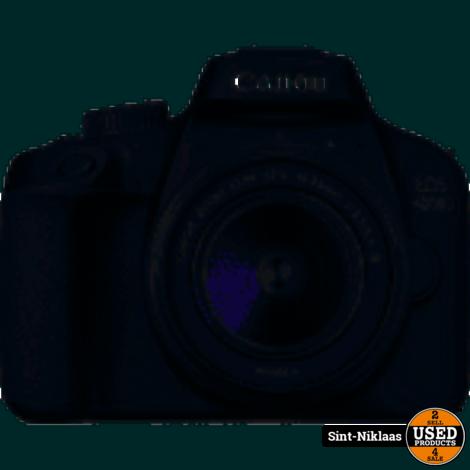 canon eos 4000 d plus lens en zak en extra battery