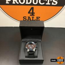Alpha Sierra Defcon LGM34BL Herenhorloge - zwart met blauwe accenten
