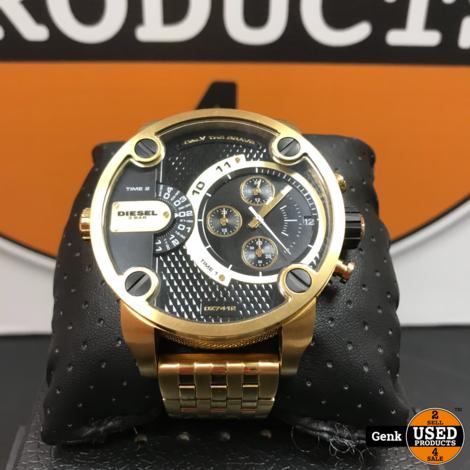DIESEL DZ-7412 - Herenhorloge - Goud/zwart kleurig
