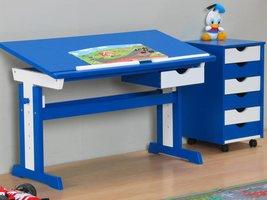 ABC tafel, schrijftafel tekentafel blauw Paco