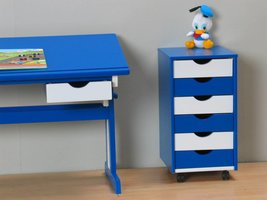 Rolcontainer ladekastje blauw wit Paco