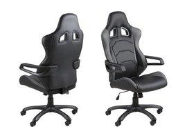 FYN Thory bureaustoel zwart/grijs met armleuningen