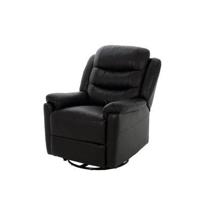 FYN Rene fauteuil leer skai zwart met draaivoet