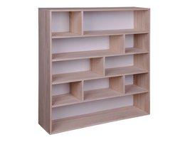 House Nordic Pia open wandkast met 10 vakken, wit/hout