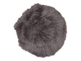 Risk bruin stoelkussen lamshuid lamsvel Ø35 cm
