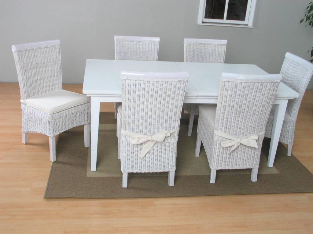 Eettafel Met 6 Witte Stoelen.Tvilum Venetie Eethoek Tafel Met 6 Witte Stoelen Larissa