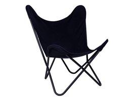 House Nordic Carpe fauteuil canvas zwart