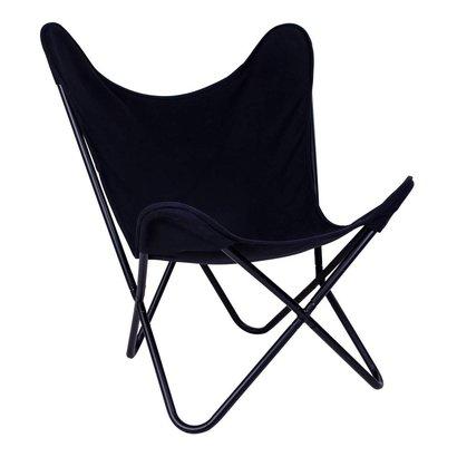 Norrut Carpe fauteuil canvas zwart
