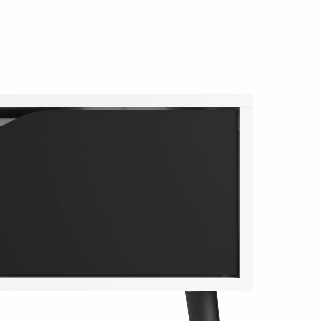 Salontafel Lade Wit.Tvilum Napoli Salontafel Met Lade En Plank Zwart Wit