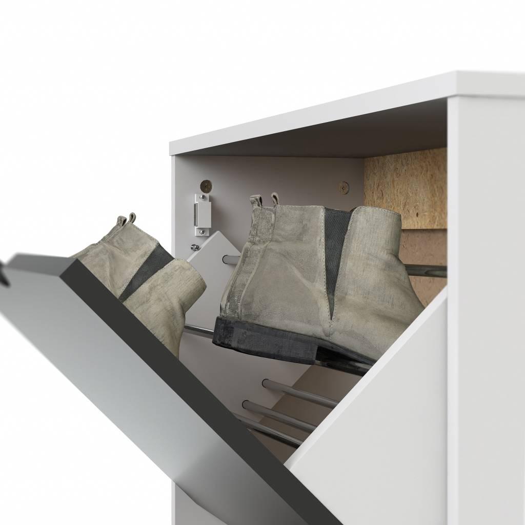 Schoenenkast In Stijl Design.Napoli Schoenenkast Zwart Wit Met 3 Laden