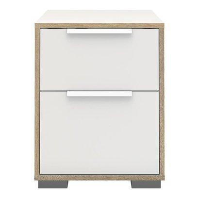 Nachtkastje Signe wit / eiken 50x40x40 cm