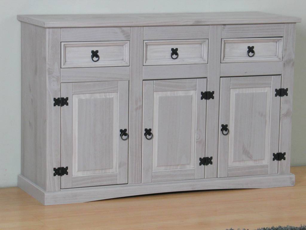 Mexicaanse Grenen Tv Kast.New Mexico Dressoir 132 Cm Breed Grijs