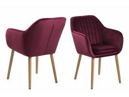 Emil fauteuil stof met verticale naden - bordeaux / paars