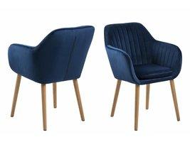 Emil fauteuil stof met verticale naden - blauw