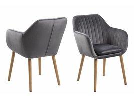 Emil fauteuil stof Corsica met verticale naden - donkergrijs