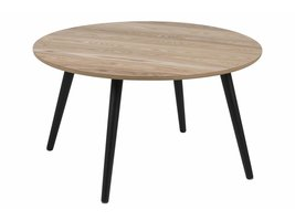 FYN Staff salontafel rond essen decor met zwarte poten Ø80 cm