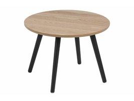 FYN Staff salontafel rond essen decor met zwarte poten Ø50 cm