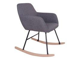 Norrut Yma schommelstoel grijs modern design