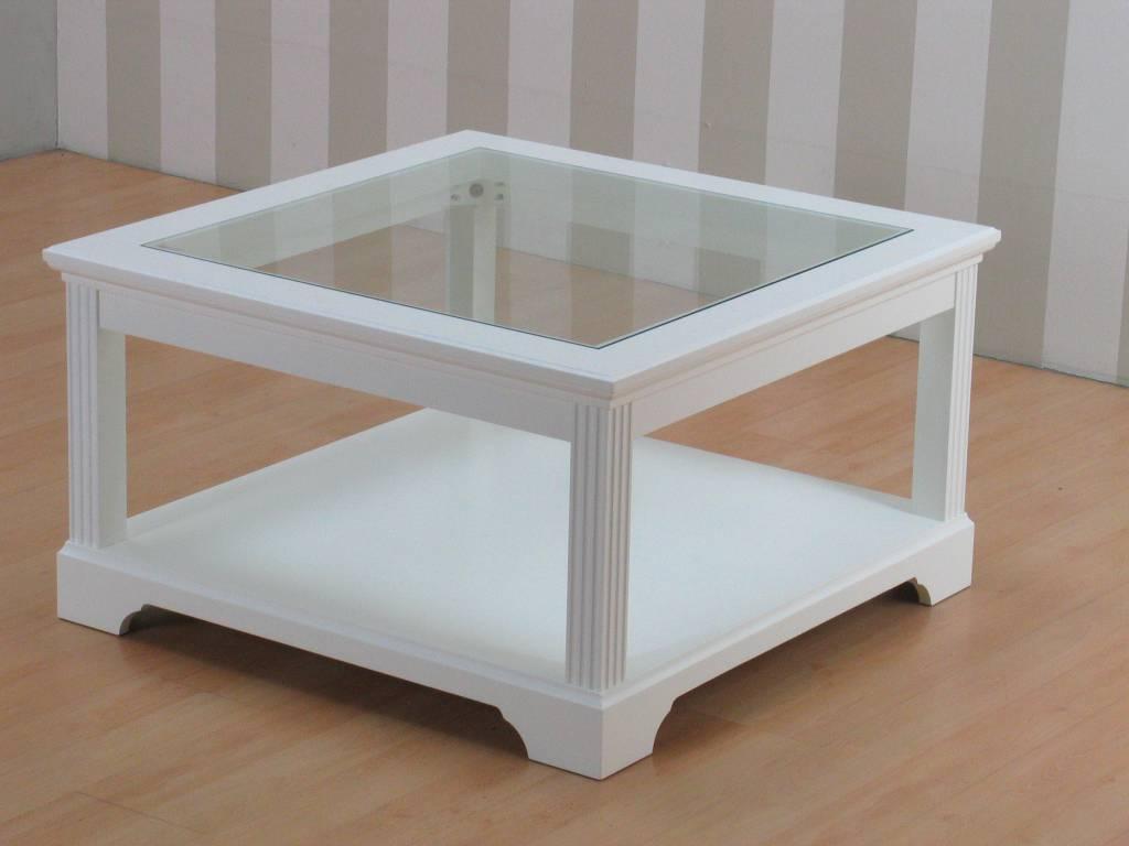 Witte Salontafel Vierkant.Charlot Salontafel Vierkant Wit 85x85 Cm