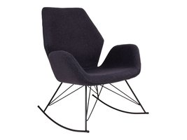 Norrut Nynne schommelstoel donkergrijs met zwart metalen onderstel