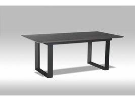 Solliden Marlo eetkamertafel 195-255x98 met keramisch blad grijs en zwart