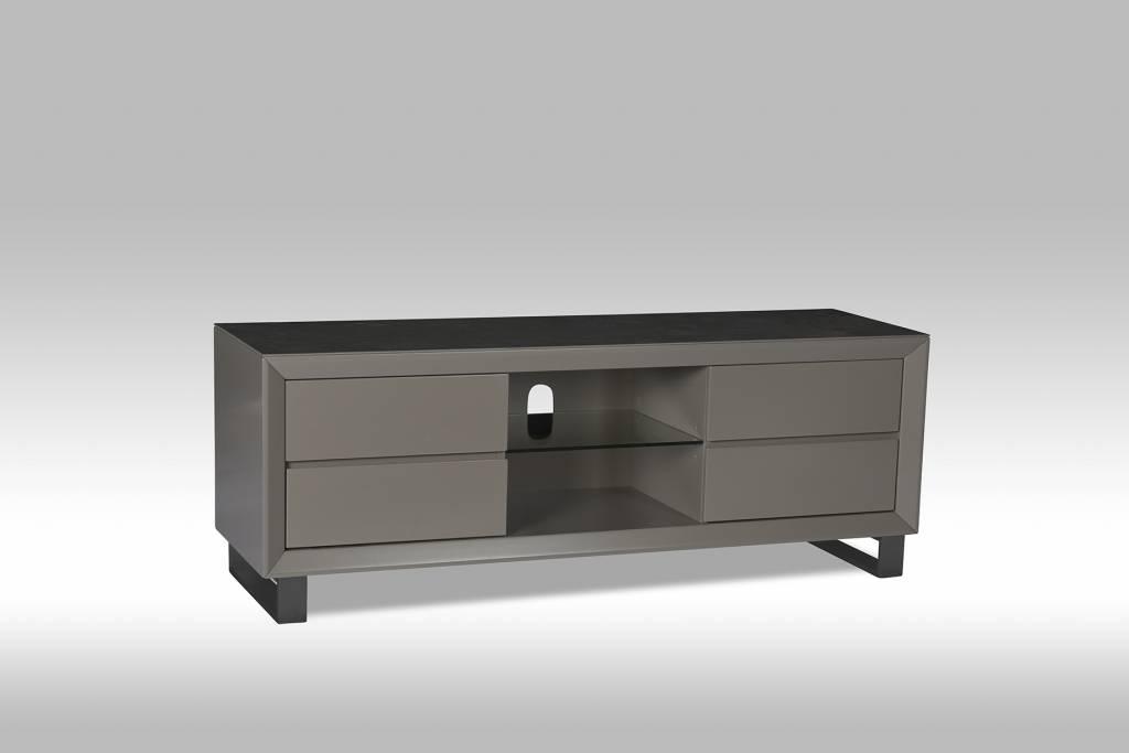 Solliden marlo tv meubel met 4 lades 1 glazen plank en keramisch