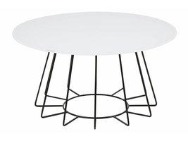 FYN Caja salontafel rond glas wit
