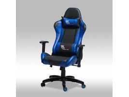 Furn House Wild bureaustoel gamestoel zwart-blauw