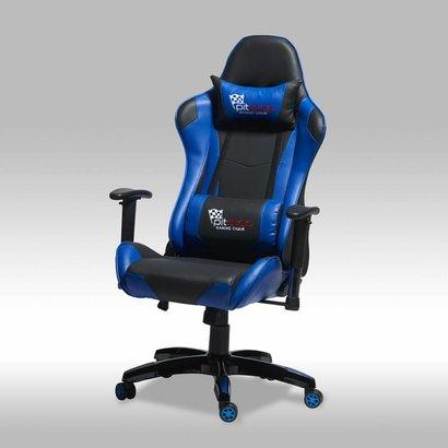 Bureaustoel Blauw Zwart.Wild Bureaustoel Gamestoel Zwart Blauw