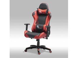 Furn House Wild bureaustoel gamestoel zwart-rood