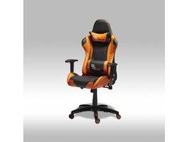 Furn House Wild bureaustoel gamestoel oranje-zwart