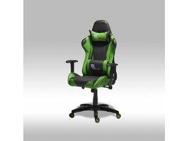 Furn House Wild bureaustoel gamestoel groen-zwart