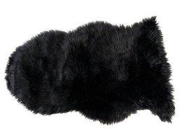 Imme lamsvel 60x90 cm imitatiebont zwart