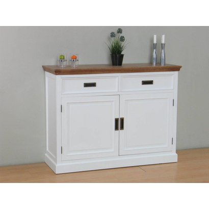 Sidetable Eiken White Wash.Marie Dressoir Met 2 Lades En 2 Deuren Wit En White Wash