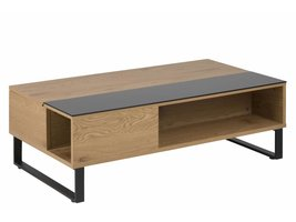 FYN Allan salontafel 60x110 cm eiken - zwart