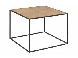 Orcean salontafel 60 x 60 cm in paulownia hout en poten in metaal zwart