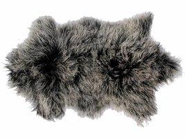 Tibe lamsvel 70 x 110 cm in mix van grijs van Tibet