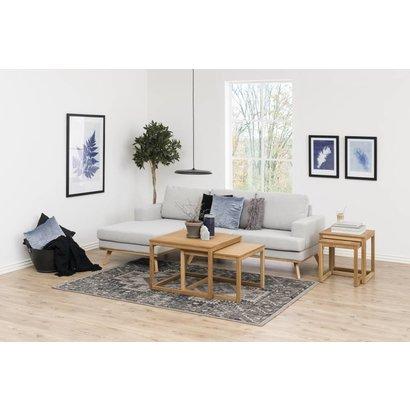 FYN Nord 2-zitsbank met chaise longue links in lichtgrijze stof