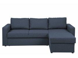 FYN Sissel slaapbank met omkeerbare chaise longue met opbergvak in donkerblauw
