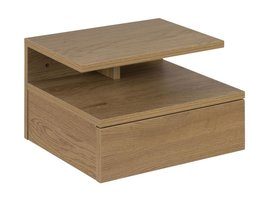 Ashley nachtkastje met 1 plank en 1 lade in wild eiken decor
