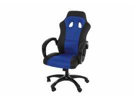 FYN Ravn bureaustoel gamestoel in blauw-zwart