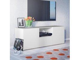 Collect TV meubel met 1 plank, 1 lade en 2 deuren in wit