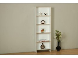 Tvilum Section boekenkast met 4 planken in wit en eiken decor