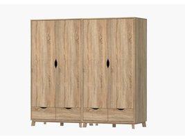 Tvilum Metcalfe kledingkast met 4 deuren en 4 lades in eiken decor