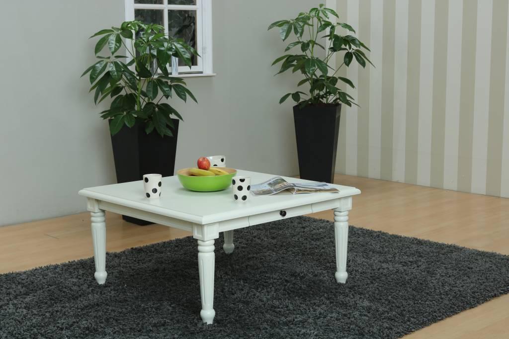 Woonkamer Zonder Salontafel : Vierkante salontafel wit mozart