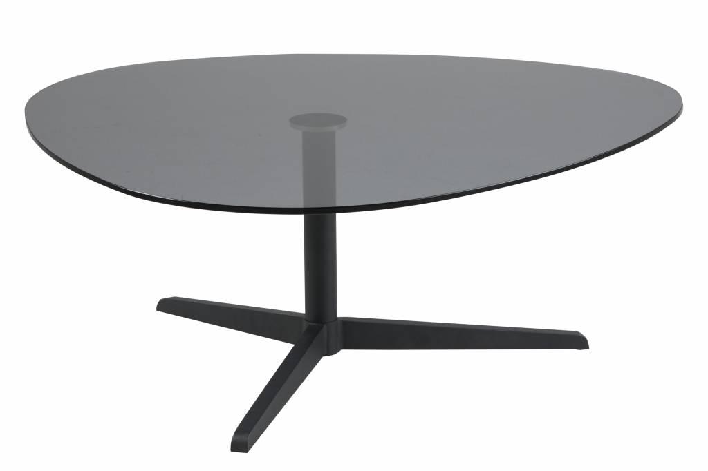 Spiegel Zwart Metaal : Bada salontafel in gerookt glas en zwart metalen onderstel