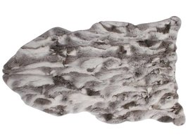 Zacht konijnenvel in grijs 65 x 115 cm