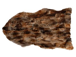 Zacht konijnenvel in bruin 65 x 115 cm