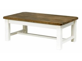 Lyra salontafel in wit geverfd en bruin hout